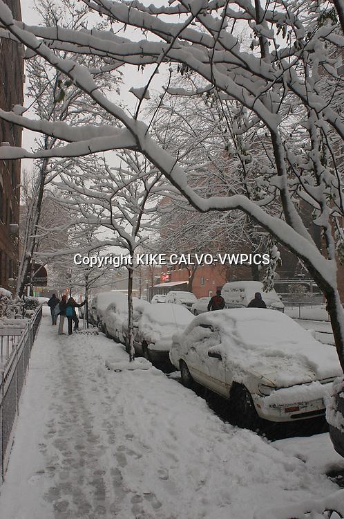 Snow blizzard in New York City