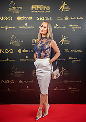 Katarina Bencek during SPINS XI Nogometna Gala 2019 event when presented best football players of Prva liga Telekom Slovenije in season 2018/19, on May 19, 2019 in Slovene National Theatre Opera and Ballet Ljubljana, Slovenia. ,Photo by Urban Meglic / Sportida