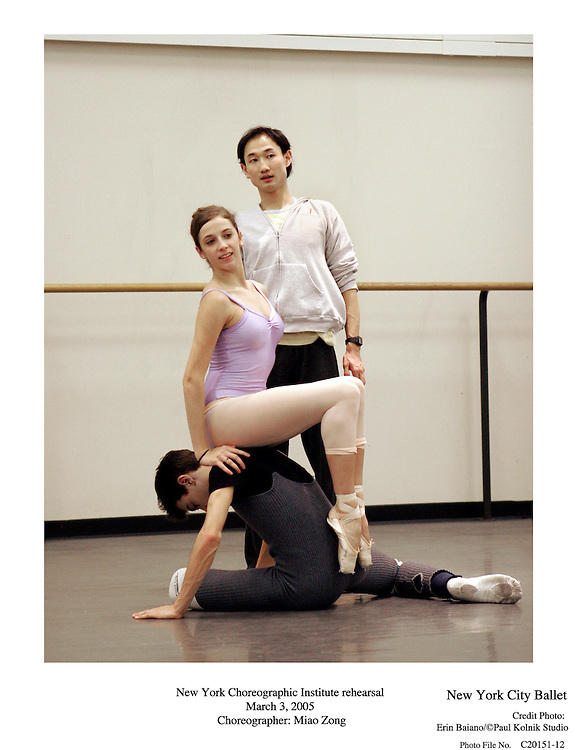 New York Choreographic Institute Rehearsal.New York City Ballet.March 3, 2005.Credit Photo Erin Baiano/©Paul Kolnik Studio..