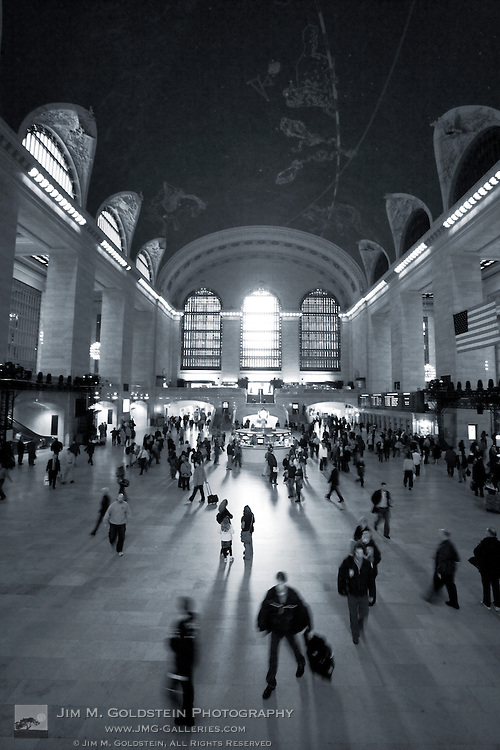 Commuters move through New York city's Grand Central Station.