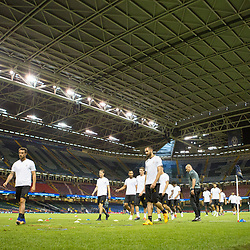 Juventus v Real Madrid UEFA Champions League final 2 June 2017; The Juventus squad under the roof during the Juventus v Real Madrid UEFA Champions League final training session at the Principality Stadium, Cardiff<br /> <br /> &copy; Chris McCluskie | SportPix.org.uk