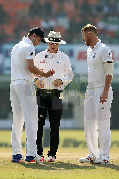 Chris Woakes and Ben Stokes of England during day 3 of the third test match between India and England held at the Punjab Cricket Association IS Bindra Stadium, Mohali on the 28th November 2016.Photo by: Prashant Bhoot/ BCCI/ SPORTZPICS