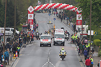 At Shooters Hill RoadWomen's race  at  one  mile point . The Virgin Money London Marathon, Sunday 26th April 2015.<br /> <br /> Photo: Dave Shopland for Virgin Money London Marathon<br /> <br /> For more information please contact Penny Dain at pennyd@london-marathon.co.uk