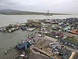 August 26, 2017 - Port Aransas, TX, United States - View of the damage and destruction to buildings after Hurricane Harvey hit the Texas coast as a Category 4 storm packing winds of 130 mph August 26, 2016 in Port Aransas, Texas. (Credit Image: © Loumania Stewart/Planet Pix via ZUMA Wire)