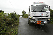 2/10/2002.The Scene of a fatal car crash in Mount Loftus near Goresbridge county Kilkenny yesterday..Picture Dylan Vaughan
