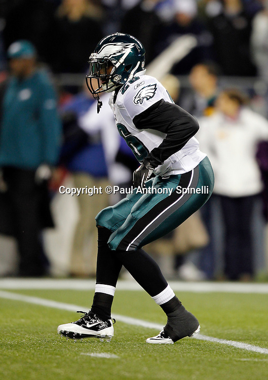 Philadelphia Eagles free safety Jaiquawn Jarrett (26) drops back in pass coverage during the NFL week 13 football game against the Seattle Seahawks on Thursday, December 1, 2011 in Seattle, Washington. The Seahawks won the game 31-14. ©Paul Anthony Spinelli