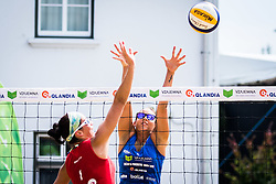 Ana Skarlovnik of team Ana in Jelena vs Monika Potokar of Sberbank during Qlandia Beach Challenge 2015 and Beach Volleyball Slovenian National Championship 2015, on July 25, 2015 in Kranj, Slovenia. Photo by Ziga Zupan / Sportida