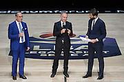 Egidio Biancj, Gianni Petrucci<br /> Presentazione Campionato Lega Basket 2016-2017<br /> Basket Serie A  2016<br /> Milano 26/09/2016<br /> Foto Ciamillo-Castoria