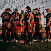 The Scrap Yard Dawgs huddle on the field before the game.<br /> <br /> Todd Spoth for The New York Times.