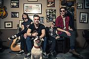Travis Oaks - Band Promo Shoot by Dublin based music photographer Dan Butler.<br /> Location: Abner Brown's Barbers, Rathmines, Dublin
