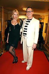 VIC REEVES and his wife NANCY SORRELL at the South Bank Show Awards held at The Dorchester, Park Lane, London on 29th January 2008.<br />