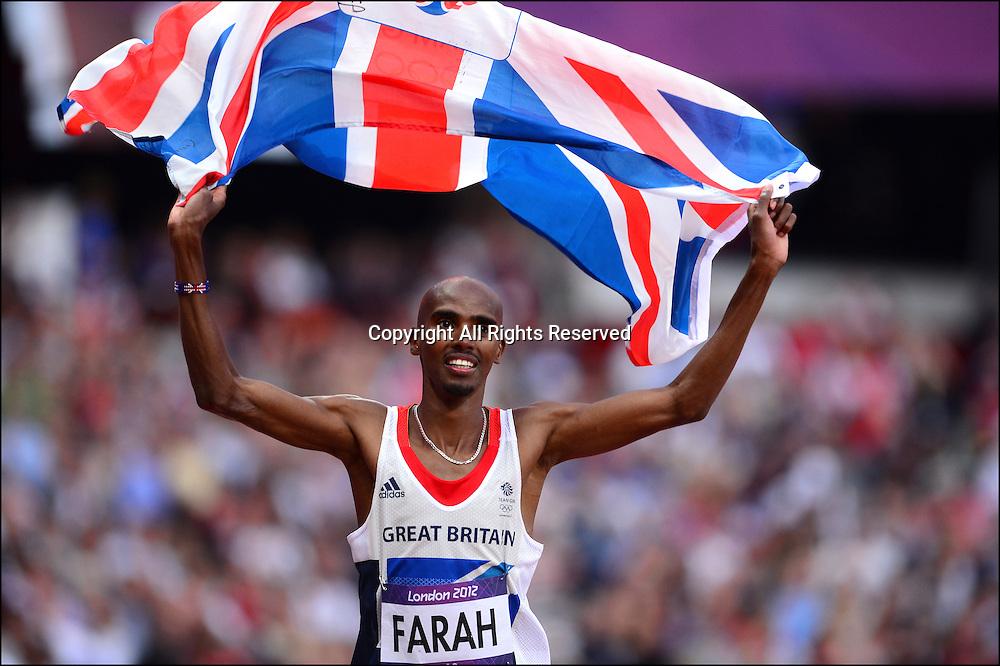 Joie de Mohamed Farah (gbr) - finale 5000m hommes
