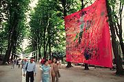 "VENICE, ITALY..June 1993..45th Biennale of Venice.Passagio a Oriente..""Sakuhin"", 1956 by Yasuo Sumi..(Photo by Heimo Aga)"
