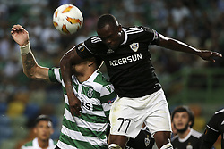 September 20, 2018 - Na - Lisbon, 20/09/2018 - Sporting CP received the Qarabag FK tonight at Alvalade Stadium, in the first match of Group E of the Europa League 2018/19. Sebasti√°n Coates, Donal Guerrier  (Credit Image: © Atlantico Press via ZUMA Wire)