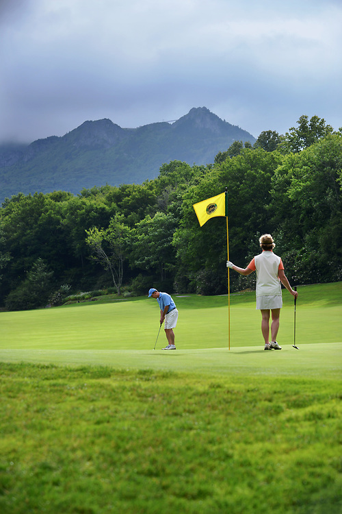 Lifestyle, golf, community, architectural, and scenic photography of Grandfather Golf and Country Club in Linville, North Carolina.