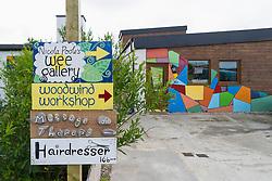 Arts and craft workshop and shop in Balnakeil craft village in Durness north west Scotland United Kingdom