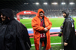 Photographers Primoz Lovric, Ziga Zivulovic during the 2020 UEFA European Championships group G qualifying match between Slovenia and Latvia at SRC Stozice on November 19, 2019 in Ljubljana, Slovenia. Photo by Vid Ponikvar / Sportida
