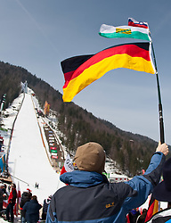 19.03.2010, Planica, Kranjska Gora, SLO, FIS SKI Flying World Championships 2010, Features, im Bild deutscher Fan im Zielstadion der Flugschanze in Planica, EXPA Pictures © 2010, PhotoCredit: EXPA/ J. Groder / SPORTIDA PHOTO AGENCY
