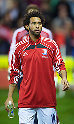 STOKE, ENGLAND - Monday, September 13, 2010: Stoke City's Jermaine Pennant during the Premiership match against Aston Villa at the Britannia Stadium. (Photo by David Rawcliffe/Propaganda)