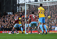 West Ham's Aaron Cresswell puts the ball in his own net to put Crystal Palace 1-0 up<br /> <br /> Barclays Premier League - West Ham United  vs Crystal Palace  - Upton Park - England - 28th February 2015 - Picture David Klein/Sportimage<br /> --------------------<br /> Sport Image<br /> 14/15 West Ham v Crystal Palace<br /> 28 February 2015<br /> ©2015 Sport Image all rights reserved