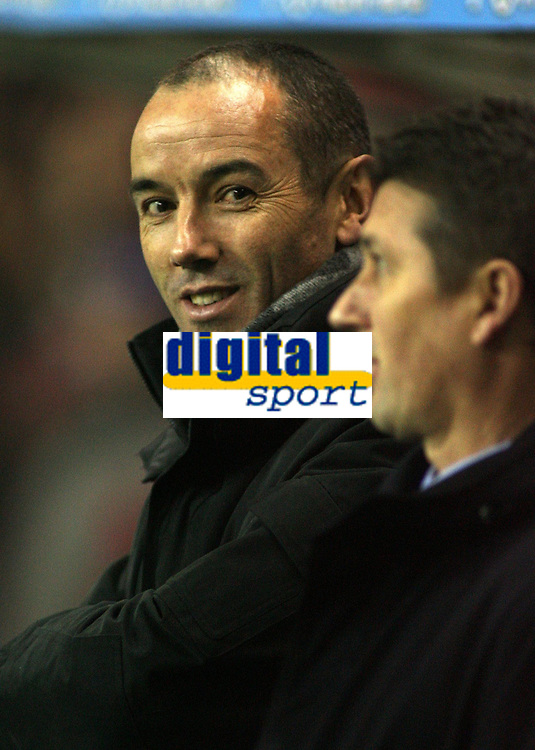 Photo: Paul Thomas.<br /> Glasgow Rangers v Partizan Belgrade. UEFA Cup. 14/12/2006.<br /> <br /> Paul Le Guen, manager of Rangers.
