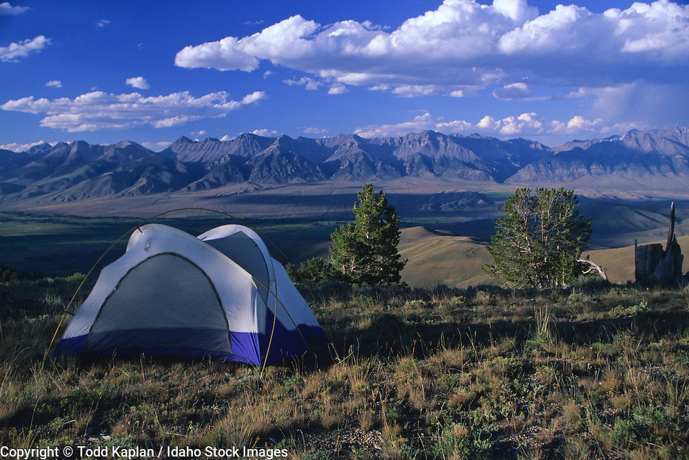 Idaho. Tent, Lost River Range.