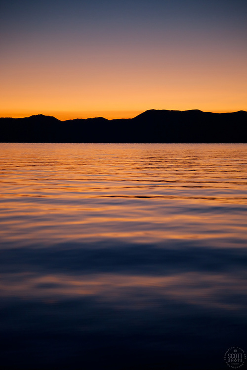 """Sunrise at Lake Tahoe 9"" - This sunrise was photographed from a boat on Lake Tahoe."