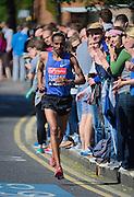 London. United Kingdom. 2014 London Marathon.  Narrow Street Limehouse, East London. Athletics 11:11:13  Sunday  13/04/2014  [Mandatory Credit; Peter SPURRIER/ Intersport Images],
