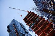 Deloitte-bygget i Barcode,Bjørvika under bygging. Snøhetta arkitekter.