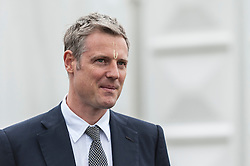 © Licensed to London News Pictures. 05/09/2015. Watford, UK. Zac Goldsmith, MP for Richmond, (pictured) and other VIPs visit the biggest Janmashtami festival outside of India at the Bhaktivedanta Manor Hare Krishna Temple in Watford, Hertfordshire.  The event celebrates the birth of Lord Krishna and the festival  includes music, dance, food, dramas and more. Photo credit : Stephen Chung/LNP