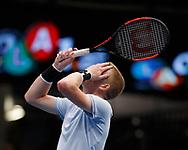 KYLE EDMUND (GBR) reagiert enttaeuscht,Aerger,Frust,Emorion,<br /> <br /> Tennis - ERSTE BANK OPEN 2017 - ATP 500 -  Stadthalle - Wien -  - Oesterreich  - 27 October 2017. <br /> © Juergen Hasenkopf
