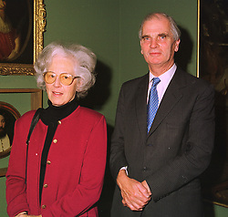 SIR RICHARD & LADY CAREW POLE Bt. at a reception in London on 10th November 1998.MLS 13