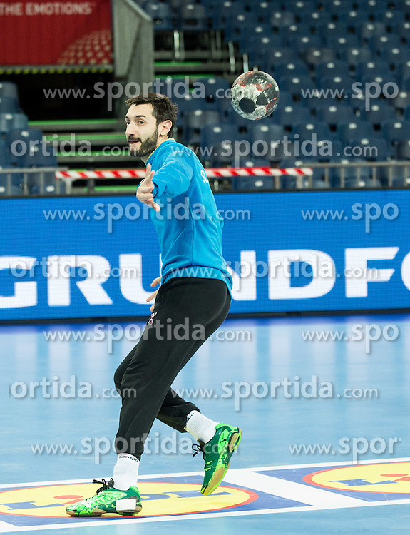 Dragan Gajic of Slovenia during practice session of Team Slovenia on Day 1 of Men's EHF EURO 2016, on January 15, 2016 in Centennial Hall, Wroclaw, Poland. Photo by Vid Ponikvar / Sportida