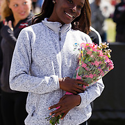 23 March 2018: San Diego State senior Rochene Smith is recognized during a seniors ceremony at  the final day of the 43rd annual Aztec Invitational.<br /> More game action at sdsuaztecphotos.com