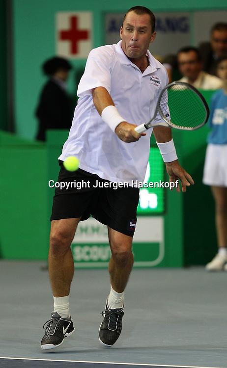 Zurich Open 2011 in der Saalsporthalle,Zuerich,.Schweiz, Herren Tennis,HallenTurnier, Champions Tour,Ivan Lendl (USA),action