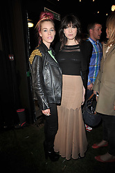 Left to right, MARY CHARTERIS and DAISY LOWE at a party to celebrate the global launch of the Iconic Brazilian lifestyle brand Havaianas Wellies range held at Selfridges, Oxford Street, London on 14th April 2011.