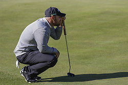 October 22, 2017 - Seogwipo, Jeju Island, South Korea - October 22, 2017-Seogwipo, Jeju Island, South Korea-Scott Brown of USA check for putt on the 2th hole during an PGA TOUR CJ CUP NINE BRIDGE DAY 4 at Nine Bridge CC in Jeju Island, South Korea. (Credit Image: © Ryu Seung Il via ZUMA Wire)