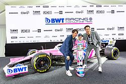 17.02.2020, BWT Headquarter, Mondsee, AUT, FIA, Formel 1, Racing Point Auto Präsentation, im Bild KOBAYASHI (JPN), Niklas Schauffer, Ryoyu Kobayashi (JPN) // during the FIA formula 1 car presentation of Racing Point at the BWT Headquarter in Mondsee, Austria on 2020/02/17. EXPA Pictures © 2020, PhotoCredit: EXPA/ Johann Groder