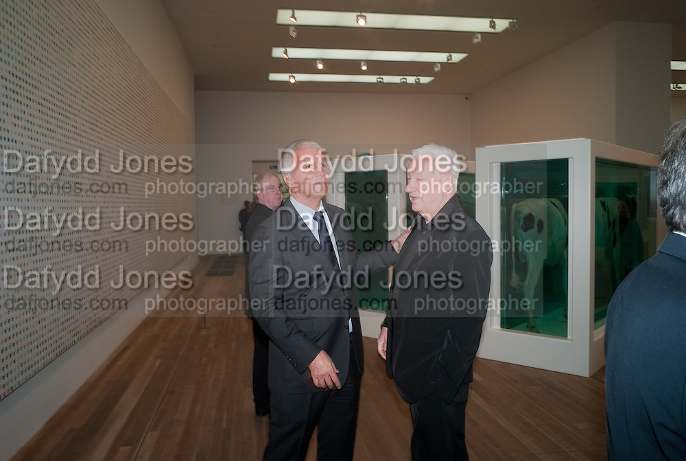 LARRY GAGOSIAN; MICHAEL CRAIG-MARTIN, Damien Hirst, Tate Modern: dinner. 2 April 2012.