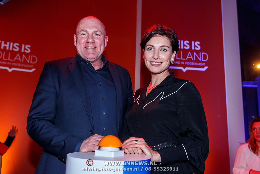 NLD/Amsterdam/20180201 - Presentatie This is Holland, Andre Kuipers en Vivienne van Assem
