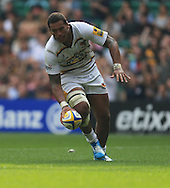 Will Hughes of london Wasps scores during the Aviva Premiership match at Twickenham stadium, London<br />