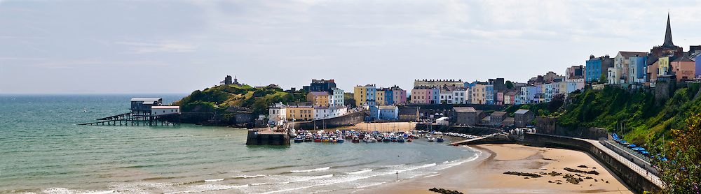 Panorama of Tenby, Wales, United Kingdom