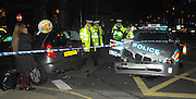 08.OCTOBER.2009 - LONDON<br /> <br /> A POLICE CAR BADLY CRASHES IN MAYFAIR INTO A MEMBER OF THE PUBLIC'S CAR WHILST SHE WAS OUT CELEBRATING HER BIRTHDAY AND CAME BACK TO A SMASHED CAR.<br /> <br /> BYLINE: EDBIMAGEARCHIVE.COM<br /> <br /> *THIS IMAGE IS STRICTLY FOR UK NEWSPAPERS & MAGAZINES ONLY*<br /> *FOR WORLDWIDE SALES & WEB USE PLEASE CONTACT EDBIMAGEARCHIVE-0208 954 5968*