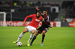 27.11.2013, BayArena, Leverkusen, GER, UEFA CL, Bayer Leverkusen vs Manchester United, Gruppe A, im Bild Emre Can ( rechts Bayer 04 Leverkusen ) im Zweikampf mit Chris Smalling ( links Manchester United / Action / Aktion ) // during UEFA Champions League group A match between Bayer Leverkusen vs Manchester United at the BayArena in Leverkusen, Germany on 2013/11/28. EXPA Pictures © 2013, PhotoCredit: EXPA/ Eibner-Pressefoto/ Thienel<br /> <br /> *****ATTENTION - OUT of GER*****
