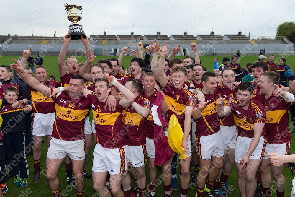 St Joseph's, Miltown's players celebrate their teams win of the Senior Football Final