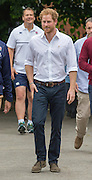STOCKPORT-  UK  -21st June 2016: <br /> Prince Harry  joins an RFU-backed community rugby programme in Alexandra Park Stockport on , as he continues to develop his involvement in initiatives that use the power of sport for social development.<br /> ©Exclusivepix Media