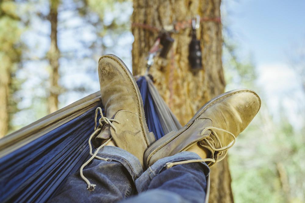Campsite hammock. Mammoth Lakes, CA | G-Project Gear