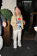 07.SEPTEMBER.2011. LONDON<br /> <br /> ACTRESS TARA REID LOOKING A MESS WITH DIRTY STAINED TRACKSUIT BOTTOMS AND GRUBBY STAINED JACKET AND AN I LOVE LONDON JUMPER WITH HAT OUTSIDE THE MAYFAIR HOTEL IN LONDON<br /> <br /> BYLINE: EDBIMAGEARCHIVE.COM<br /> <br /> *THIS IMAGE IS STRICTLY FOR UK NEWSPAPERS AND MAGAZINES ONLY*<br /> *FOR WORLD WIDE SALES AND WEB USE PLEASE CONTACT EDBIMAGEARCHIVE - 0208 954 5968*