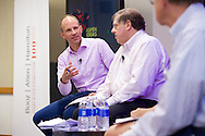 "Mike McConnell of Booz Allen Hamilton speaks on the ""Cyber Attacks on Corporations: Protecting U.S. Competitive Advantage"" panel at the 2014 Aspen Ideas Festival in Aspen, CO. ©Brett Wilhelm"