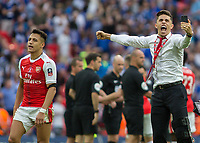 Football - 2017 FA Cup Final - Arsenal vs. Chelsea<br /> <br /> Gabriel Paulista of Arsenal celebrates after his team win the FA cup at Wembley.<br /> <br /> COLORSPORT/DANIEL BEARHAM